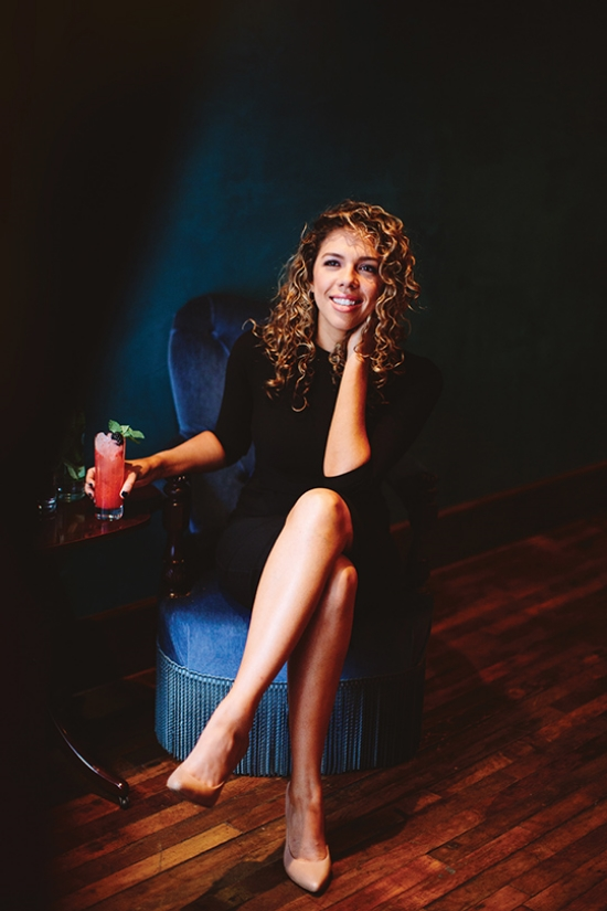 Entrepreneur Nicole Marquis at her Center City resturant Charlie was a sinner | photo by Pat Furey