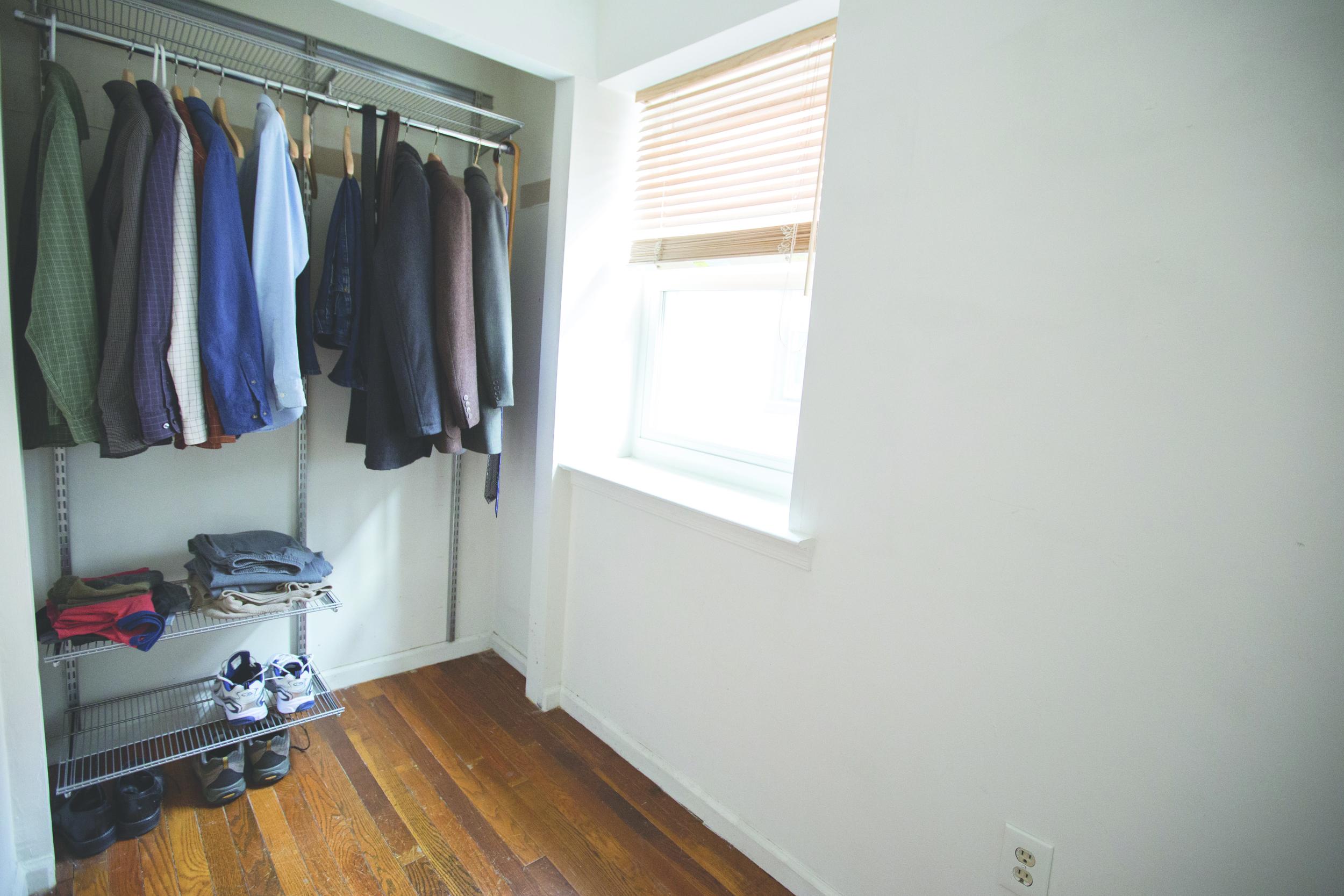 Aaron Bitler's closet of wardrobe essentials.
