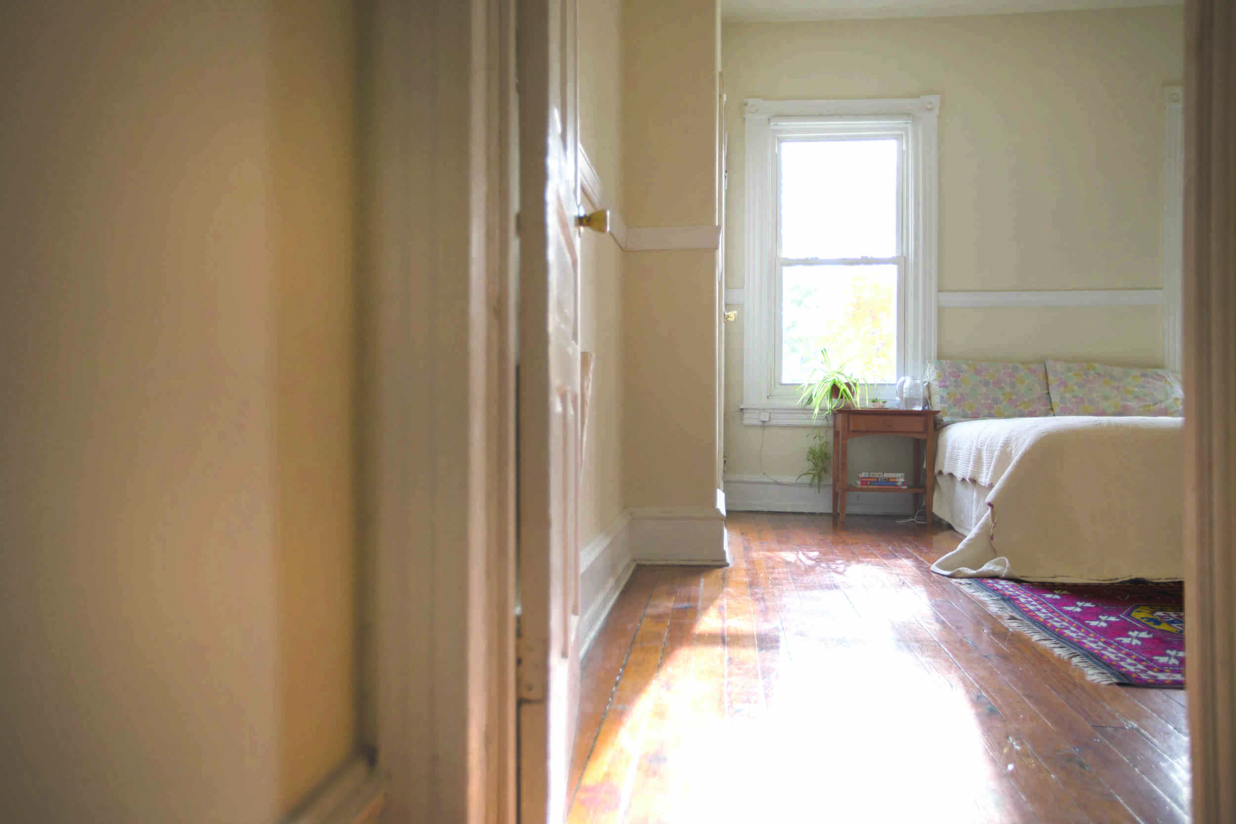 The light-filled, West Philadelphia bedroom of Ayse Unver.