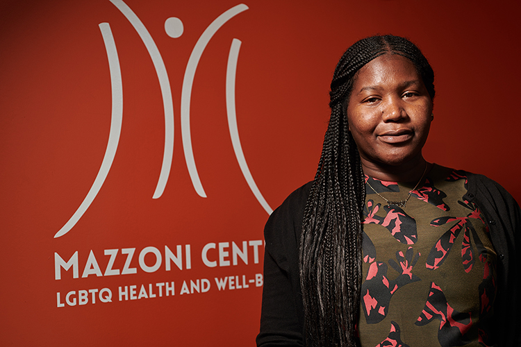 Tatyana Woodard, community health engagement coordinator at the Mazzoni Center, wants to take on more leadership in her community. (Photo by Albert Yee)