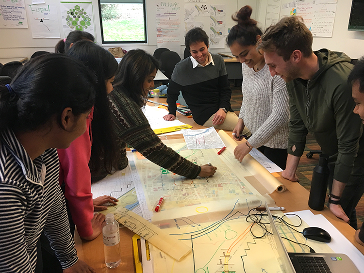 Sustainable Design students at Jefferson collaborate across disciplines to develop a masterplan for the Franklin Square District of Philadelphia.