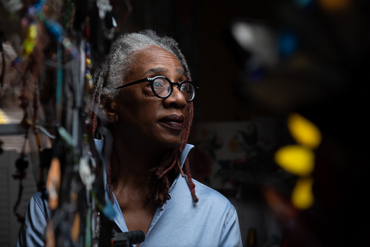 Celestine Wilson Hughes works as both a bus driver and a stained glass artist. (Photography by Kriston Jae Bethel)