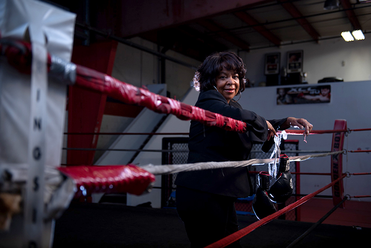 Lynn Suzette Carter just retired from a career as a supervisor within the Philadelphia Streets Department; she also works as a professional judge for boxing matches. (Photography by Kriston Jae Bethel)