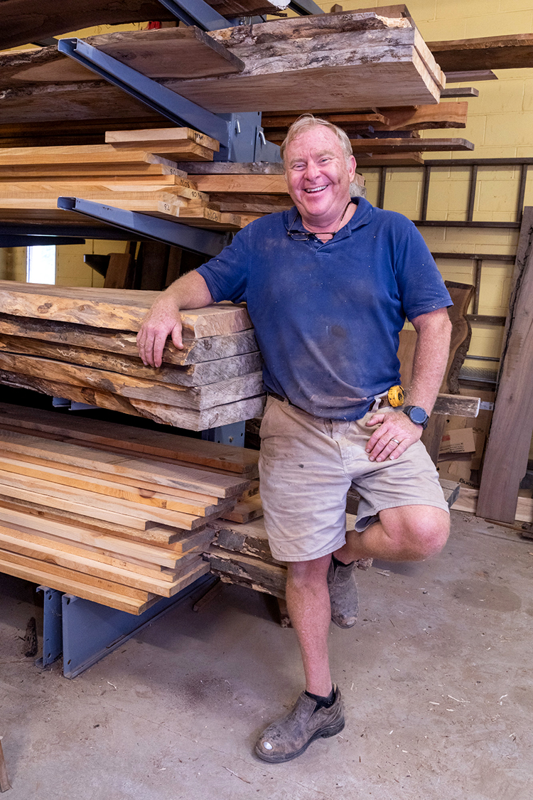 John Duffy started Stable Tables to fill a need for customized, local tables. He makes them from fallen trees, reclaimed lumber and wood from old houses and barns. (Photography by Milton Lindsay)
