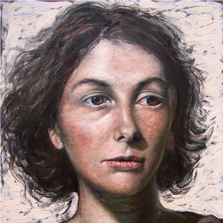 "Artwork © Francisco Benitez,  Celine , encaustic on panel, 24"" x 20"", 2008."