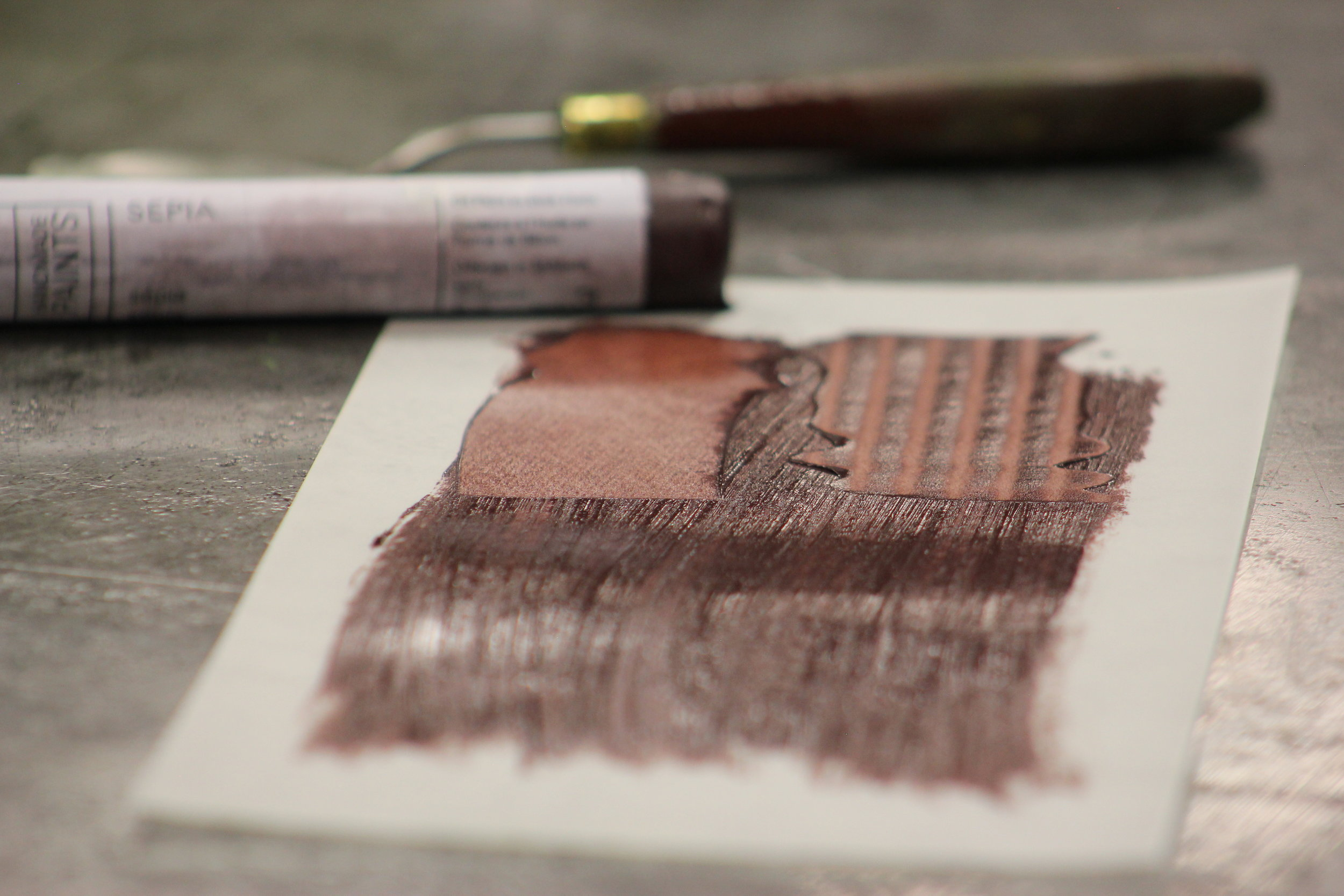 UNIQUE COLOR:SEPIA - Notes on the R&F Paint Making Process