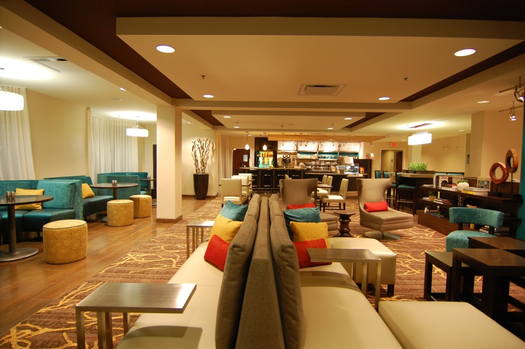 Marriott Courtyard Lobby Indianpolis.JPG