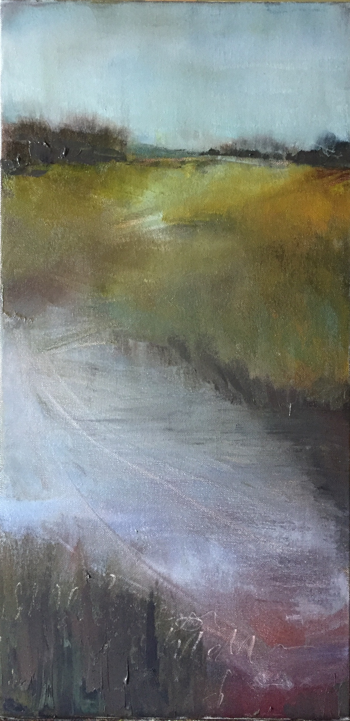 do you see what i see, 12 x 24, oil on canvas © Beth cole