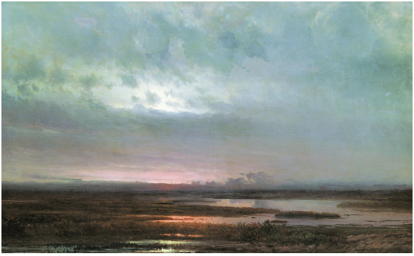 Sundown Over A Marsh by Alexei Savrasov