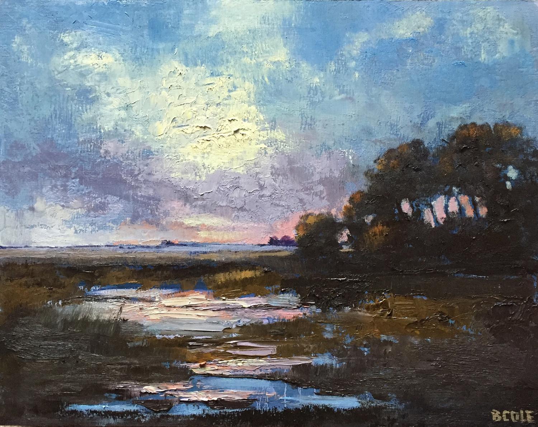 Prairie Marsh, 11 x 14, Oil on Wood Panel © Beth Cole