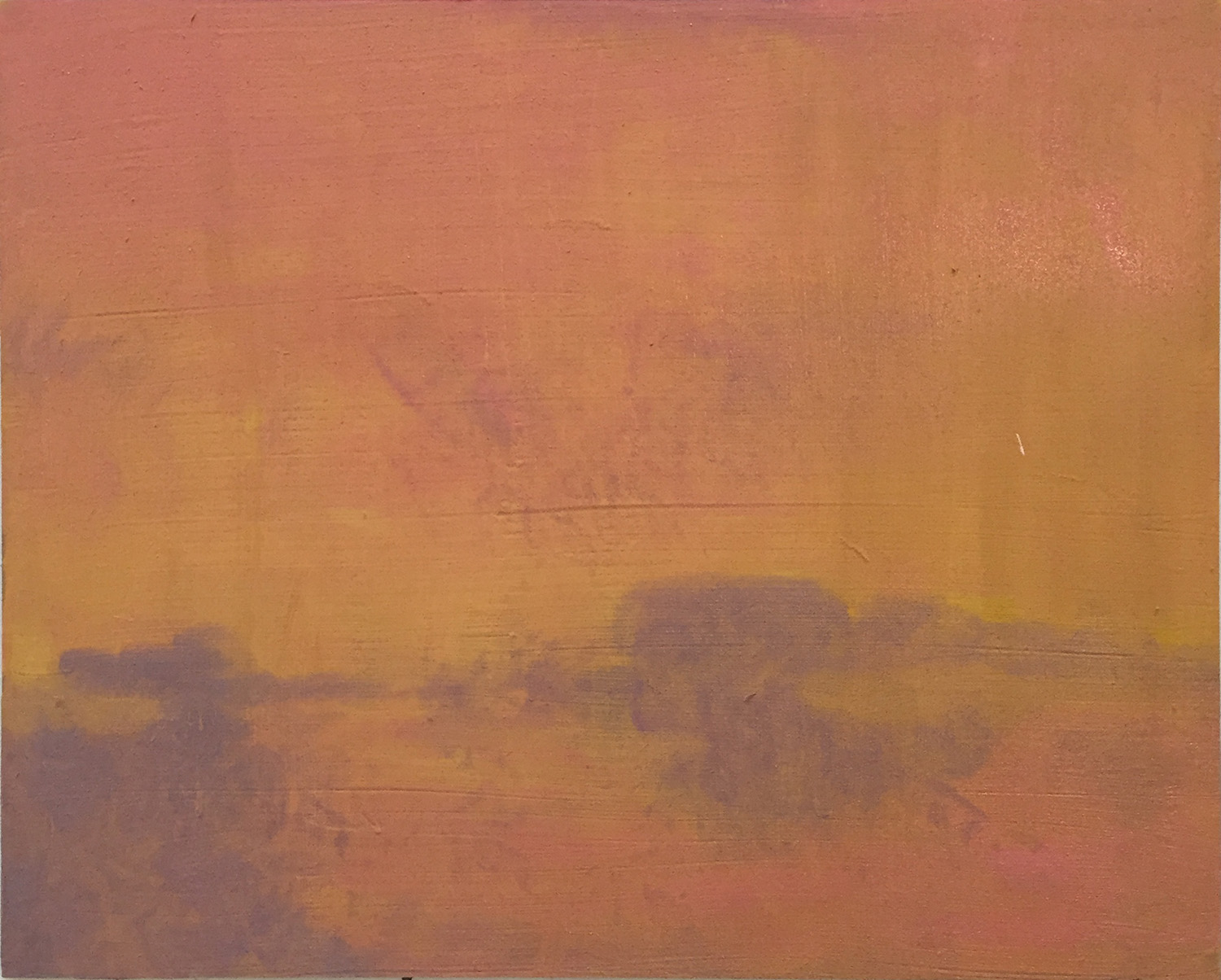 A Gessoed MDF Panel with an Underpainting Wash