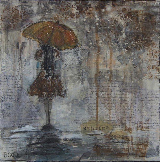 One of My First Pieces -- Rain Girl © Beth Cole | Mixed Media