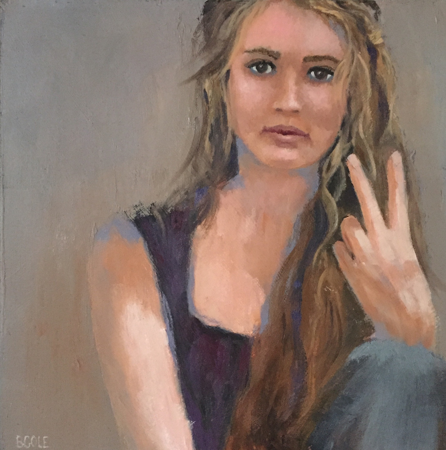 Martha | © Beth Cole | Oil on Wood | 12 x 12 | SOLD