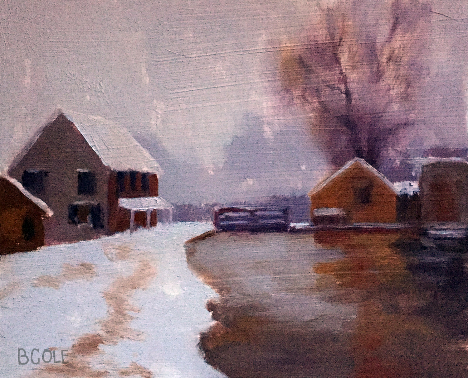 The Lock In Winter, Beth Cole after Birge Harrison | Master Study