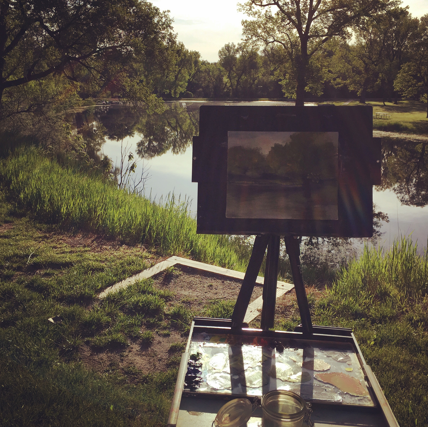 Painting at Victoria Springs ©Beth Cole