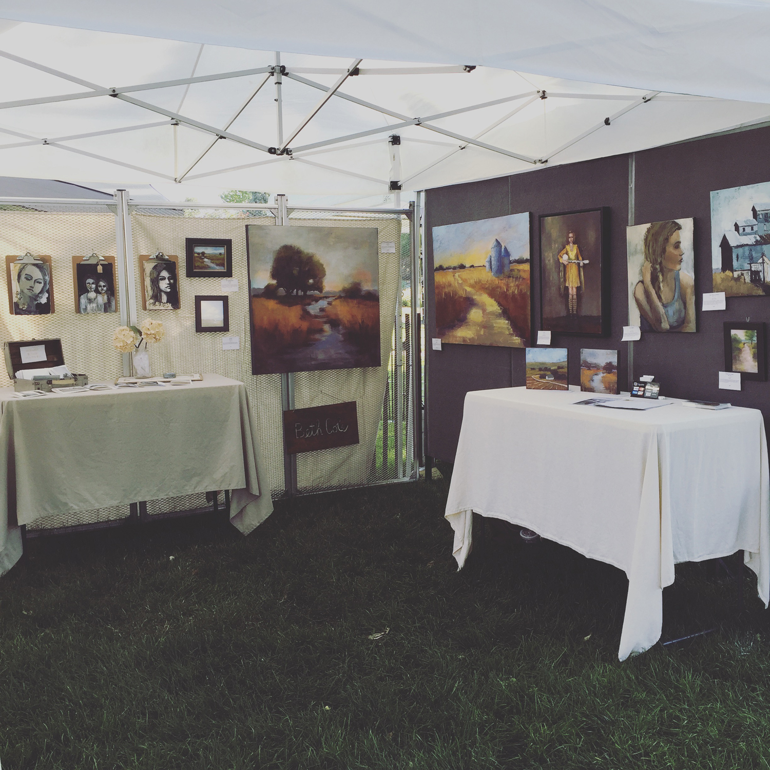 My booth from a few years ago - 2016 ©Beth Cole - my art has CHANGED since then.