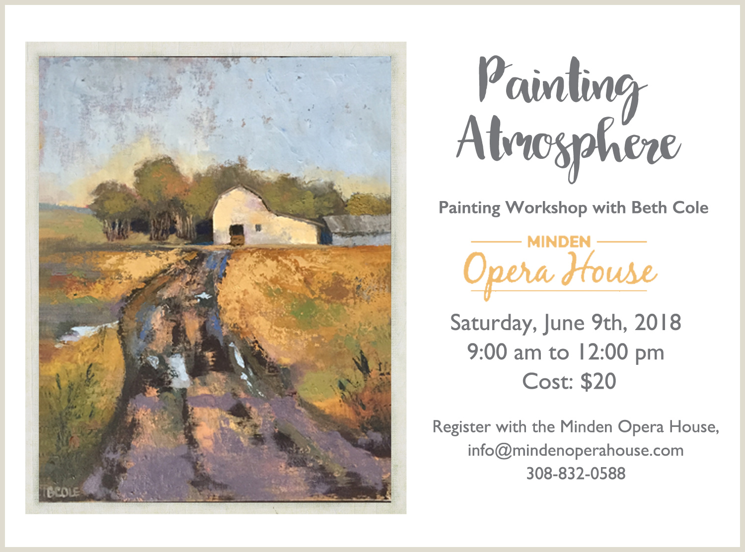 Painting Atmosphere Workshop at the Minden Opera House