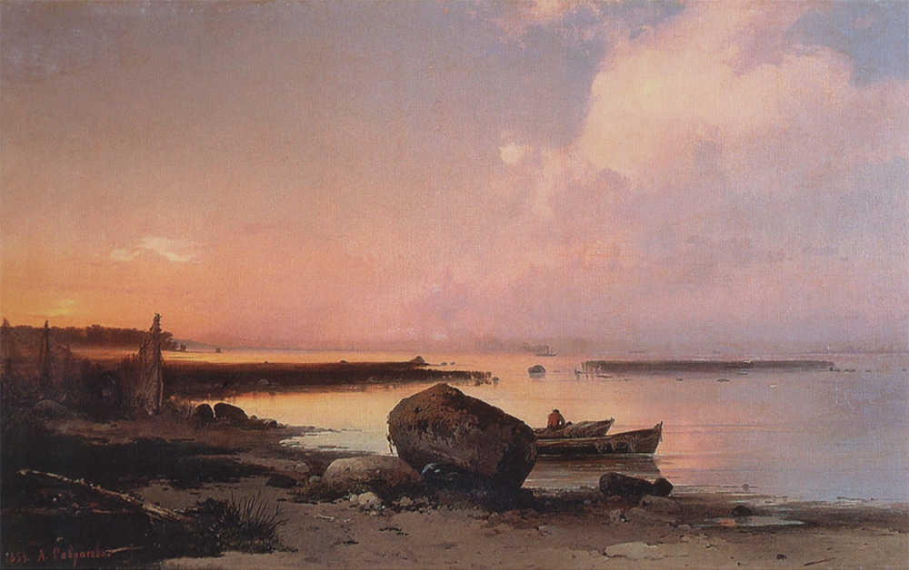 Sea Shore in the Vicinity Oranienbaum by Alexei Savrasov, 1854