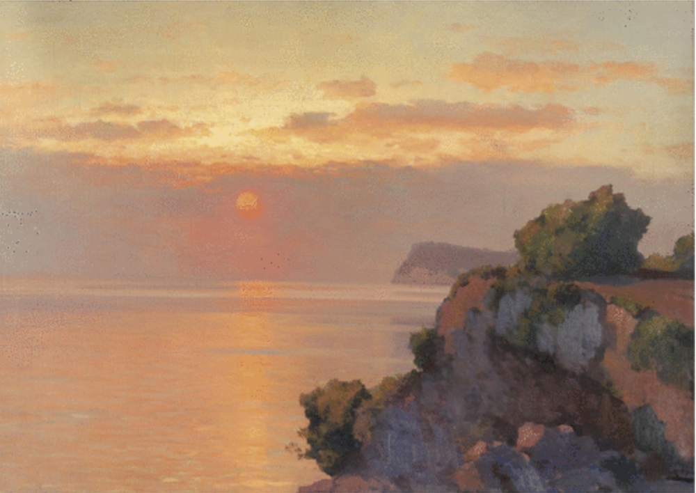 Sunset Over The Sea by Alexei Vasilievech Hanzen