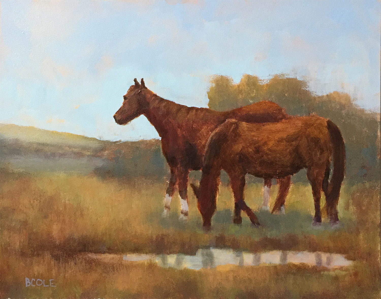 Fast Friends | Oil on Canvas | 11 x 14 | © Beth Cole
