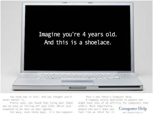 A company that helps older types get over the fear of being computer literate.