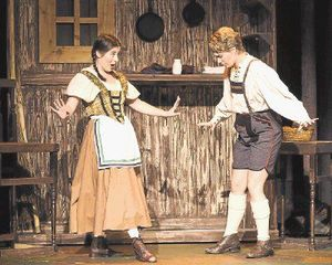 Deji Osinulu  Megan Berti (right) is seen here as Hänsel in Oh!'s Hänsel und Gretel in 2014. (Allison Pohl is Gretel.) Berti sings the role of Cenerentola in Rossini's La Cenerentola at Opera in the Heights Feb. 5–13.