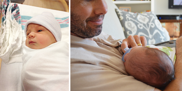 Owen in the hospital - day one / Hanging with an unshaven (and probably unshowered) Dad.