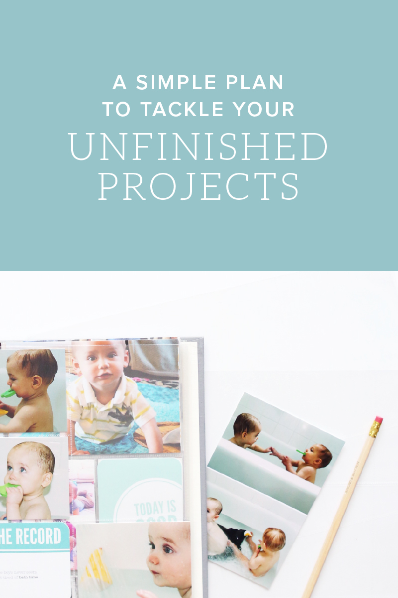 A simple plan to tackle your unfinished projects - free printable worksheet included - Green Fingerprint