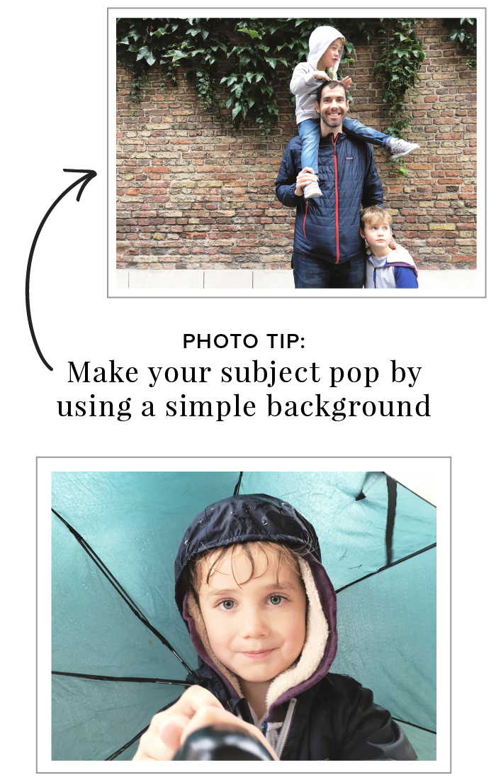 3 Simple Photo Tips for Better Phone Photography - Simplify the background