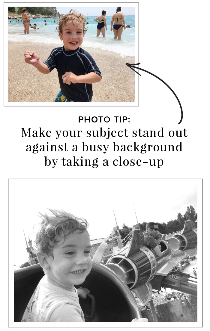 3 Simple Photo Tips for Better Phone Photography - Take a close-up to simplify a busy background