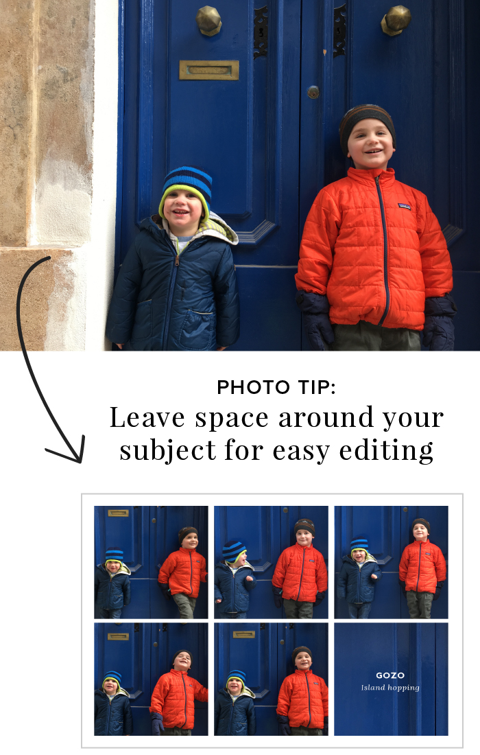 3 Simple Photo Tips for Better Phone Photography - Leave space for editing, cropping, etc