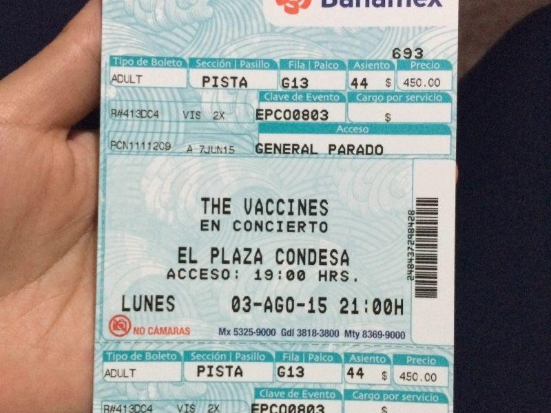The Vaccines boleto.JPG
