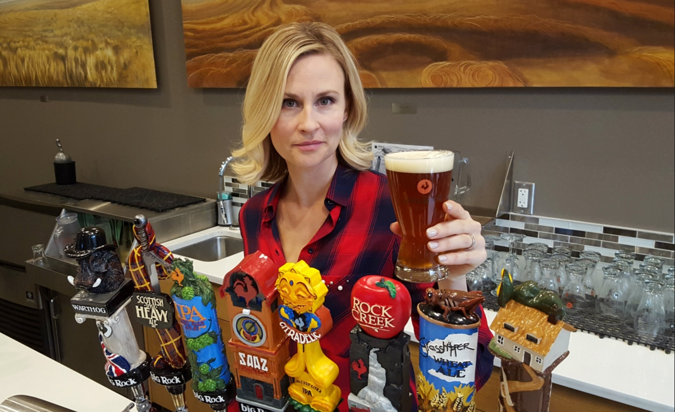 Susanne Fox says consumers know what they'll pay for a pint, so despite rising price of hops Big Rock has been absorbing the costs. (Sarah Lawrynuik/CBC)