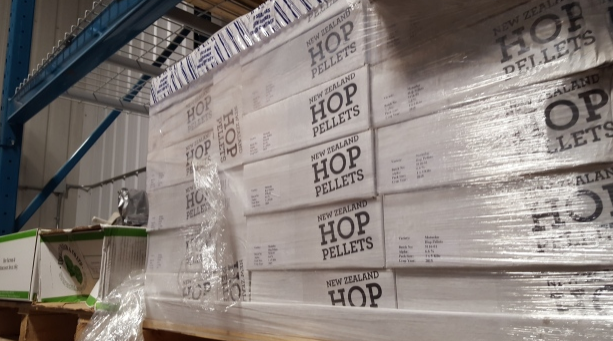 Of course, Big Rock doesn't get all its hops from the United States. It also imports from New Zealand and Europe. If hops were available locally, Big Rock would buy them in Canada, Susanne Fox says. (Sarah Lawrynuik/CBC)