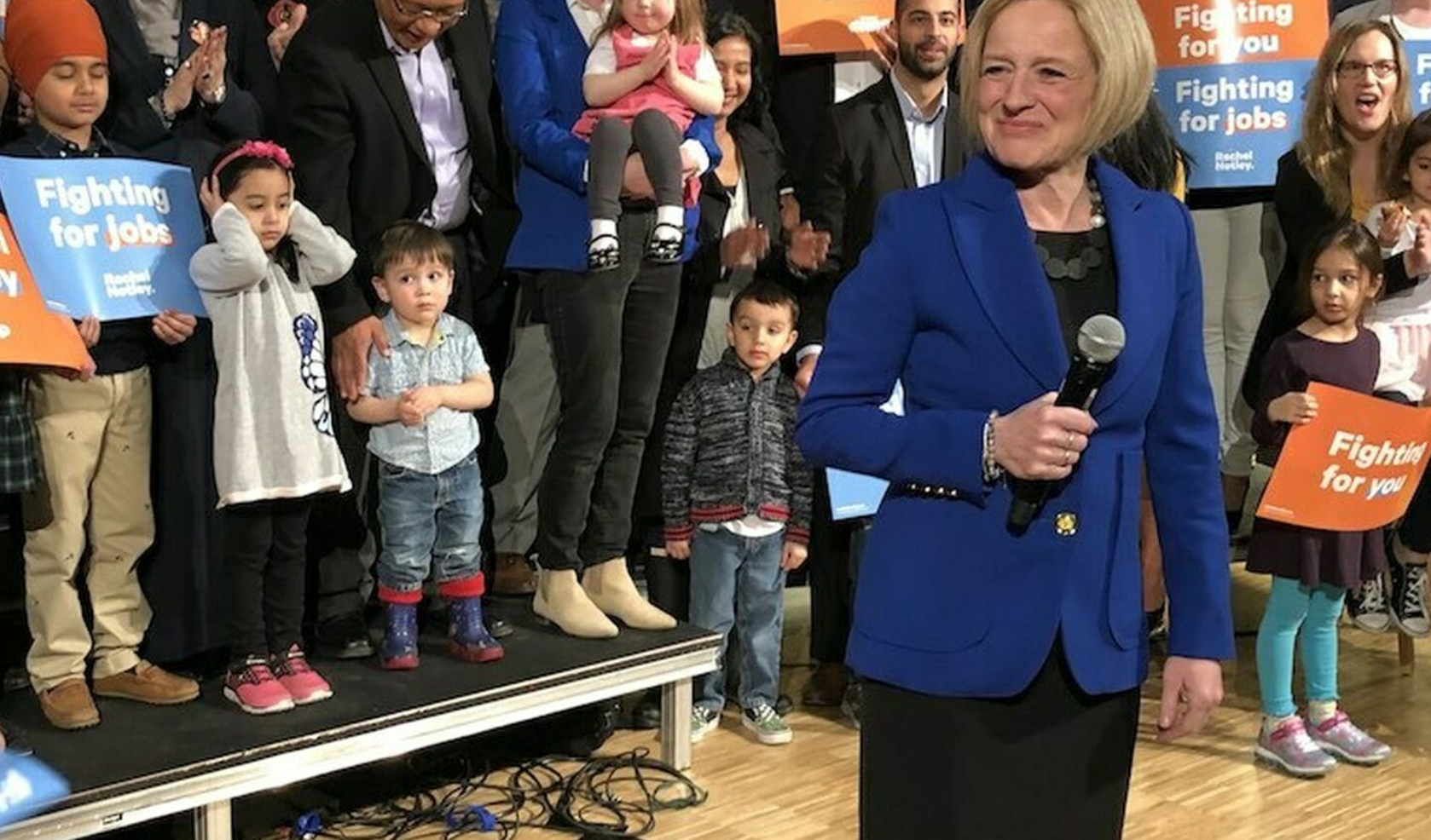 Rachel Notley kicks off her campaign at the National Music Centre. (Photo: Jeremy Klaszus, Editor of The Sprawl)