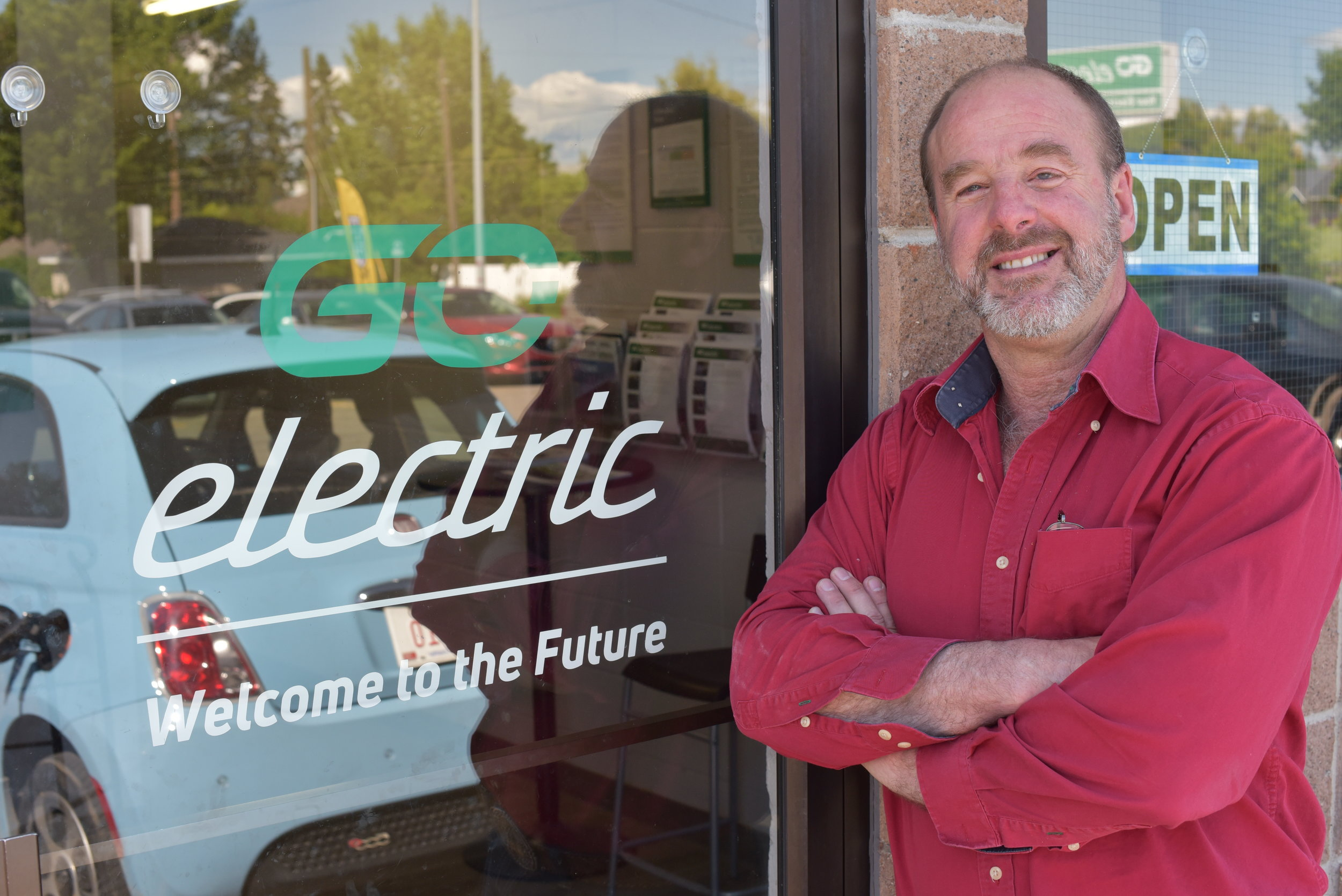 Jim Steil was trained as an electrical engineer before he decided to dive into the EV market. (Sarah Lawrynuik/CBC)