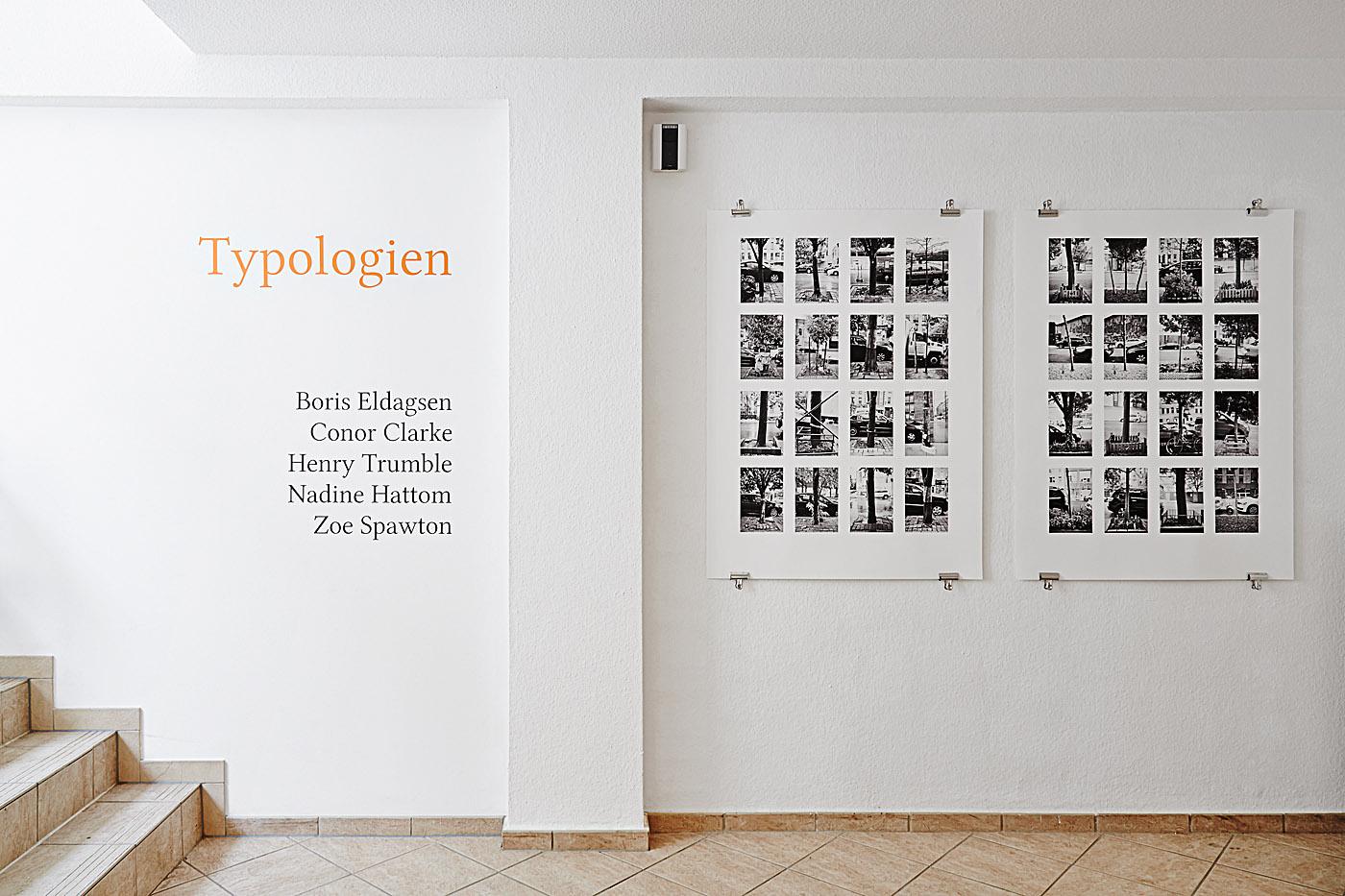 Typologien , 2014. Installation view, group exhibition, Jarvis Dooney Galerie, Berlin, Germany.