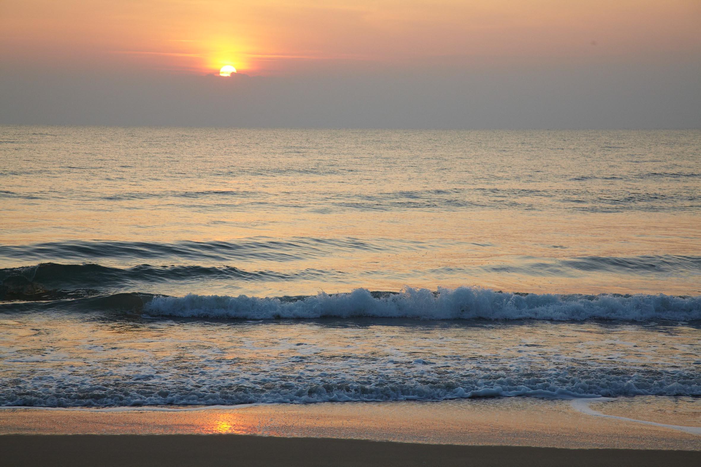 Soluppgången är vacker att beskåda.