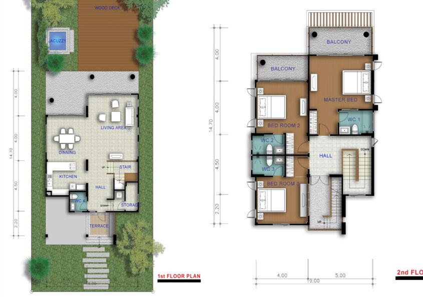 Denna ritning visar husets planering.