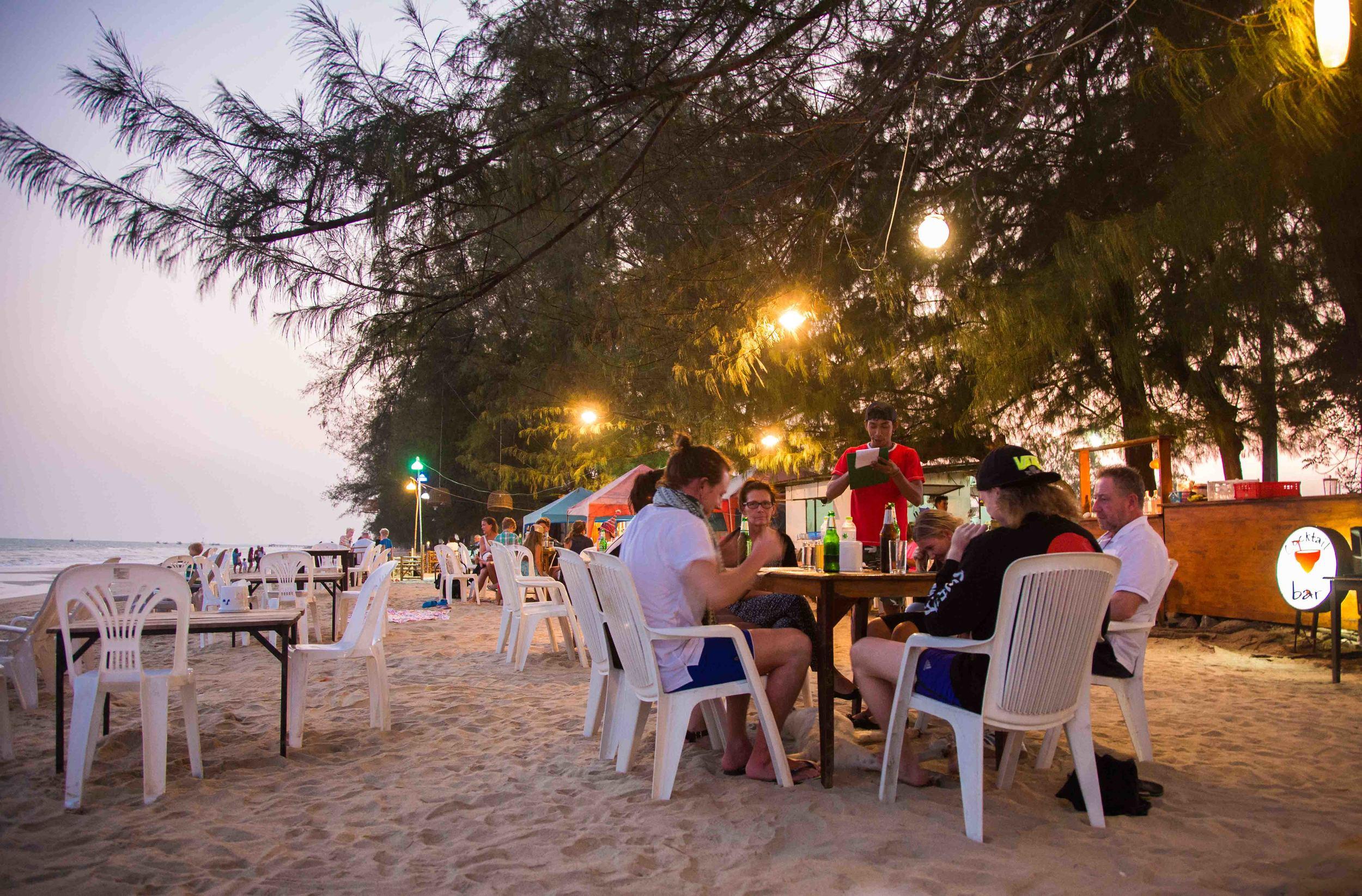 En av strandrestaurangerna.