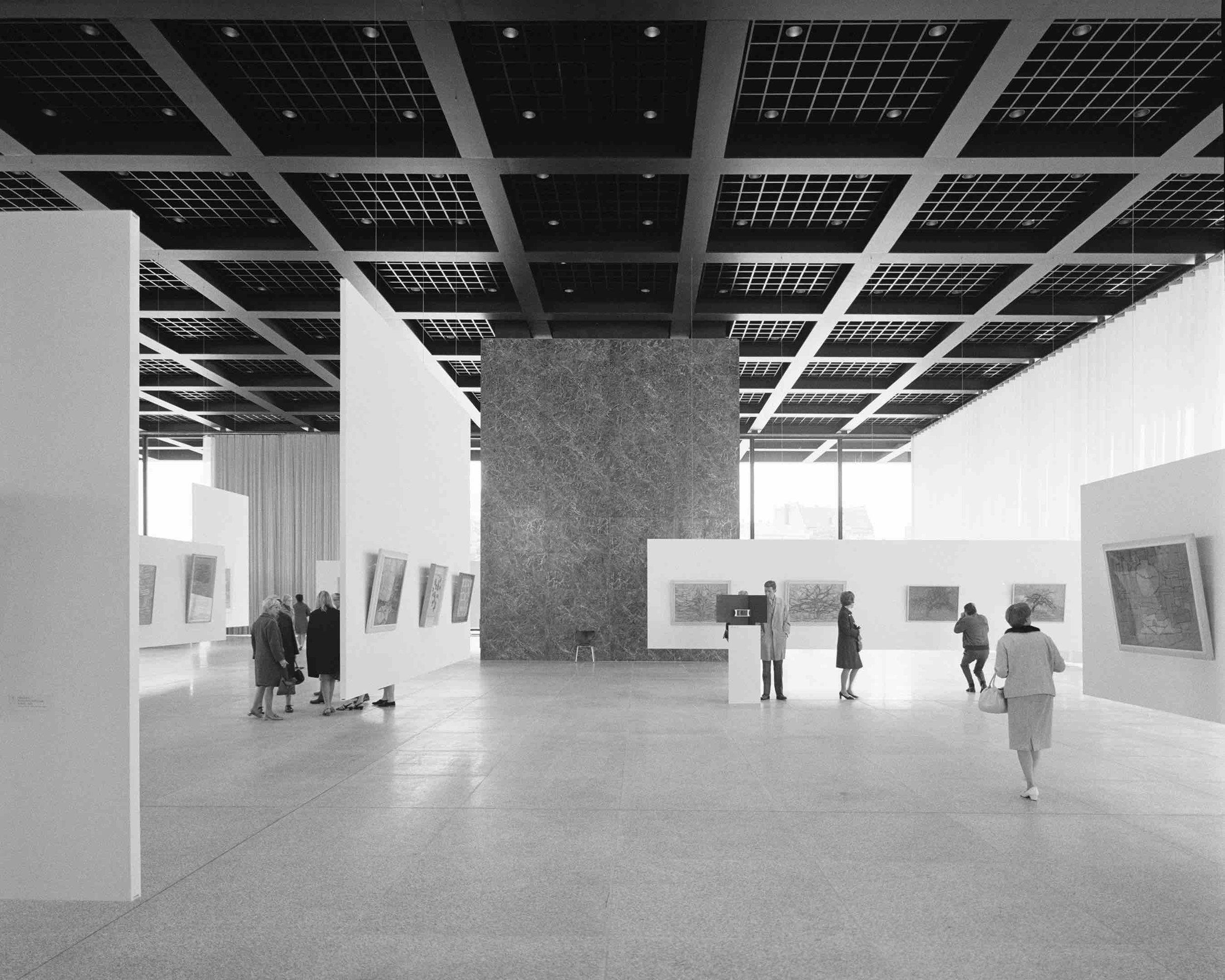 Ludwig Mies van der Rohe, Neue Nationalgalerie (Berlin, Germany) 1968