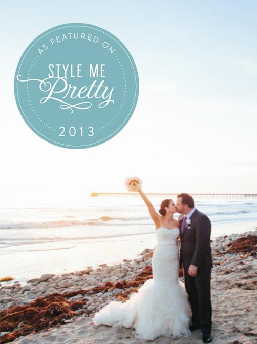 STYLE ME PRETTY:  Santa Barbara Wedding from Amy & Stuart Photography