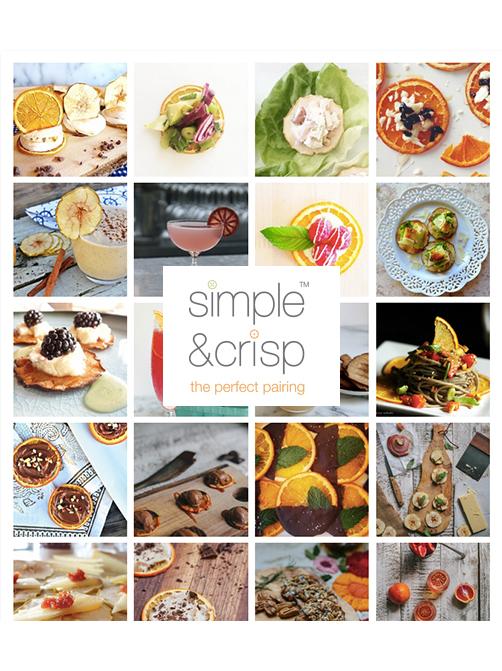 SIMPLE & CRISP:   deconstructed Waldorf salad with apple crisps: summer bbq essentials