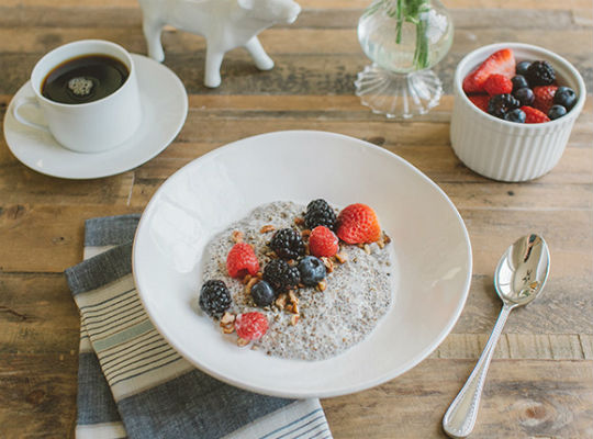 MARKS DAILY APPLE:  Warm Chia Pudding