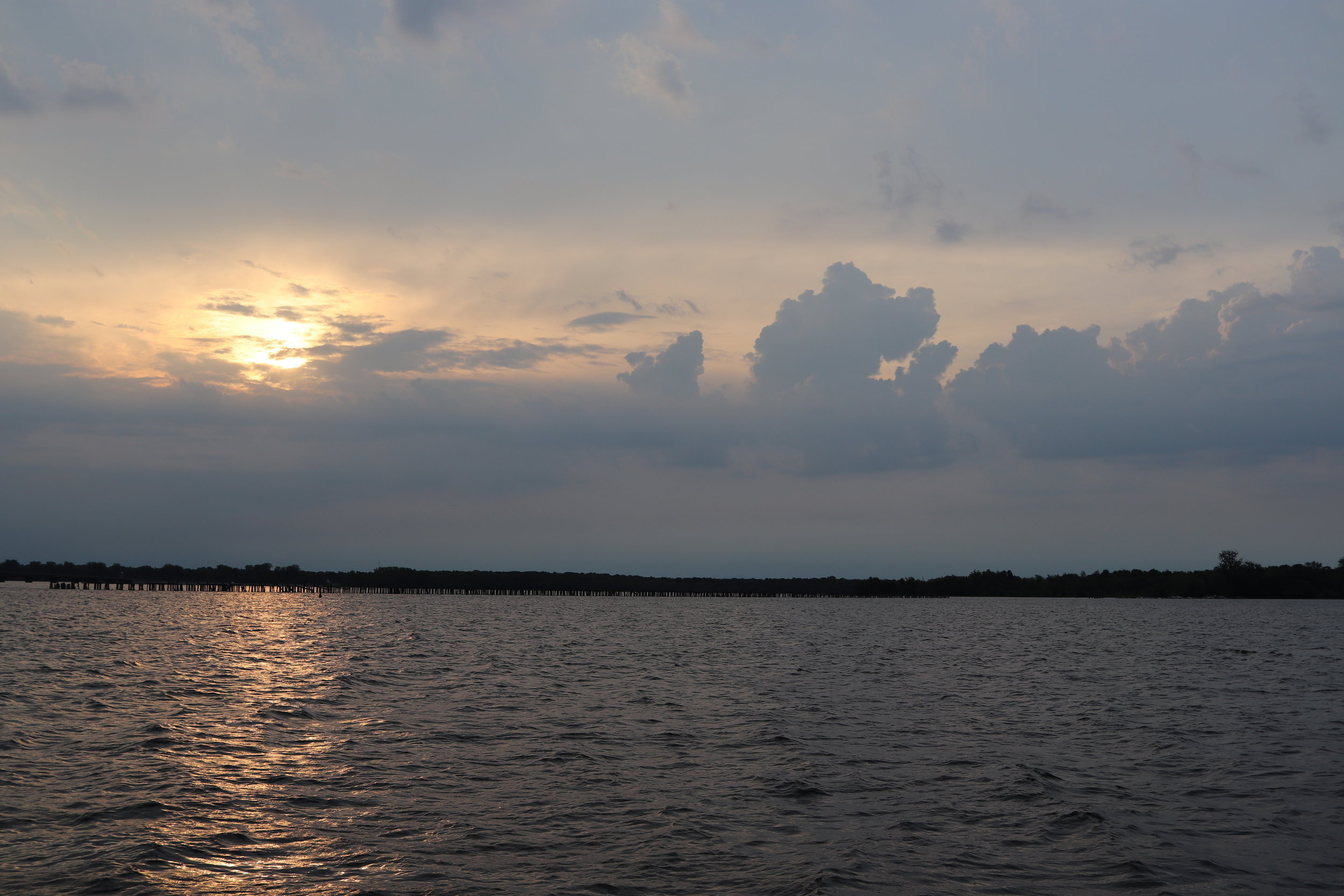 Early morning departure from Rouses Point