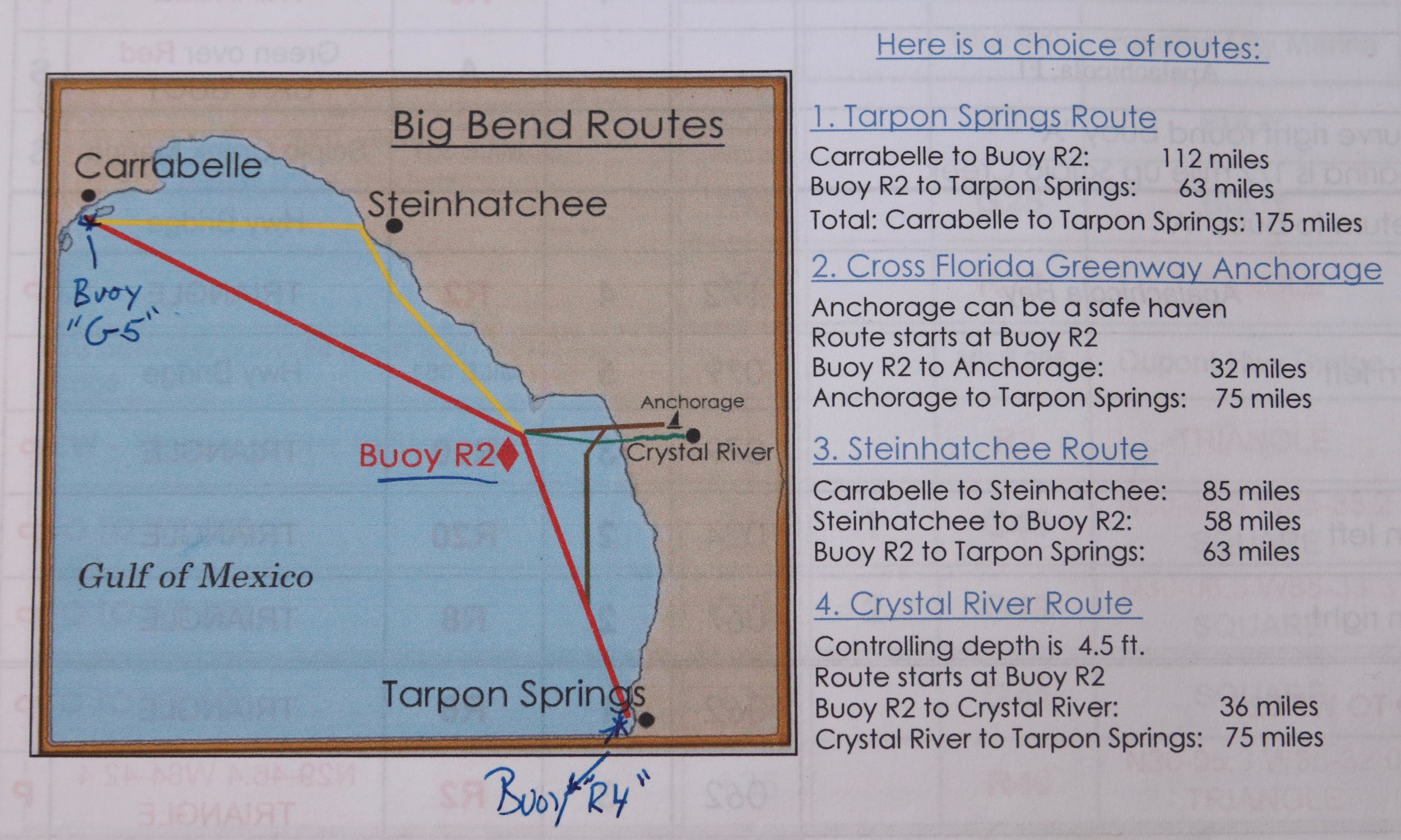 We took the Tarpon Springs route - From Captain Alan Lloyd's hugely helpful  Great Loop Navigation Notes