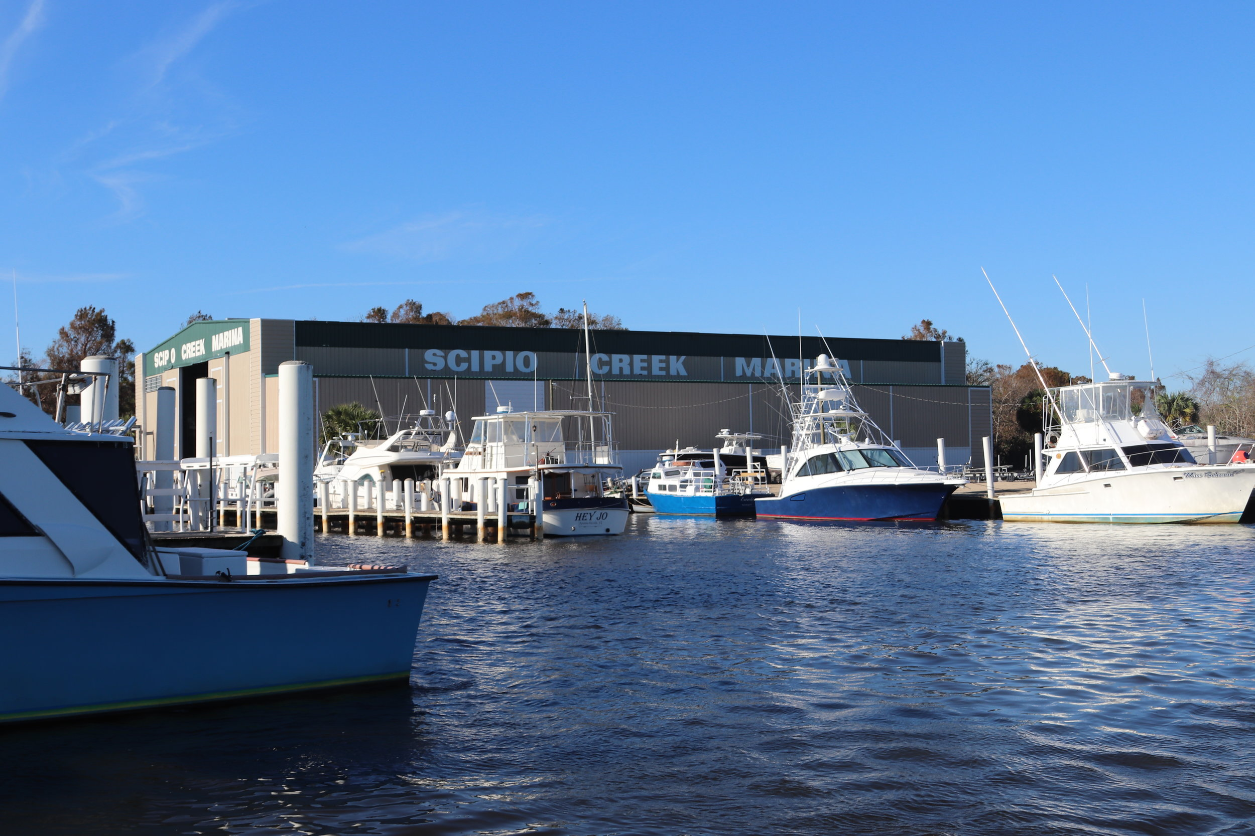 Scipio Creek Marina, Apalachicola … looks pretty good from this angle