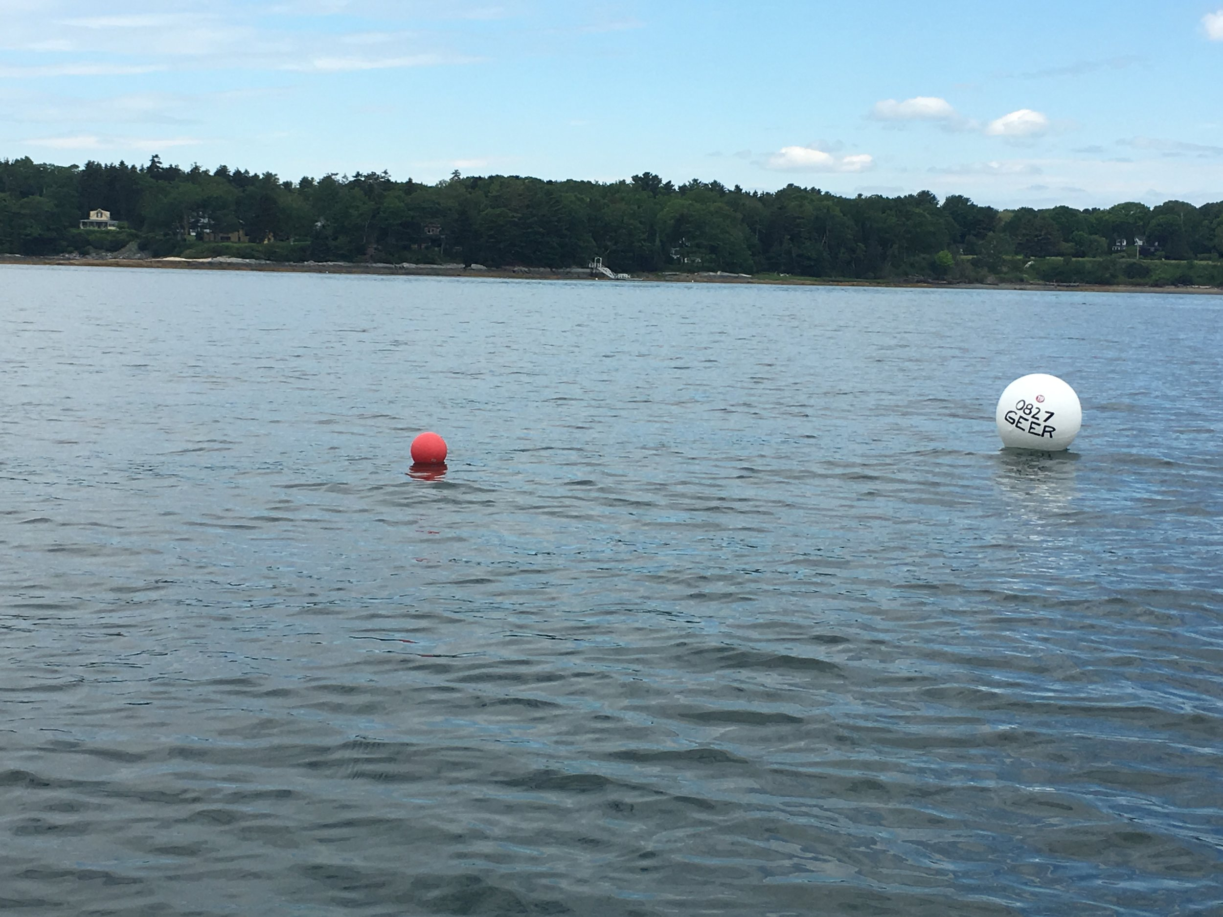 New mooring for Stout in Casco Bay