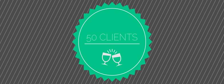 50 Client Milestone