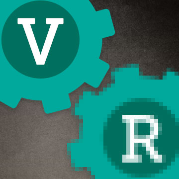 R is Pixelated and V is clear